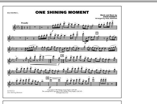 page one of One Shining Moment - Flute/PiccoloASALTTEXT