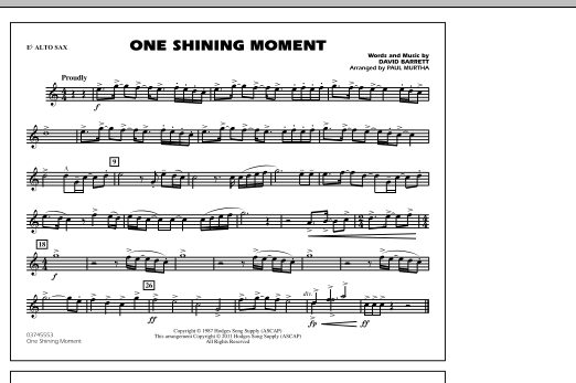 One Shining Moment - Eb Alto Sax (Marching Band)