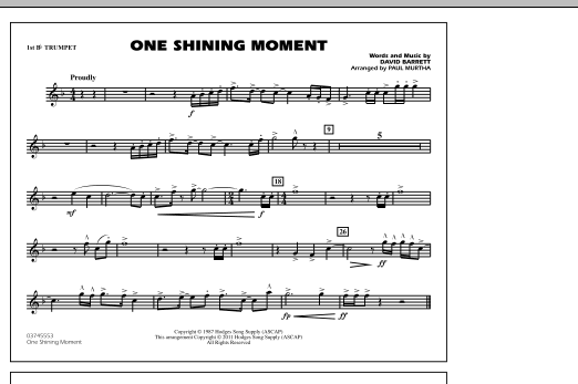 One Shining Moment - 1st Bb Trumpet (Marching Band)