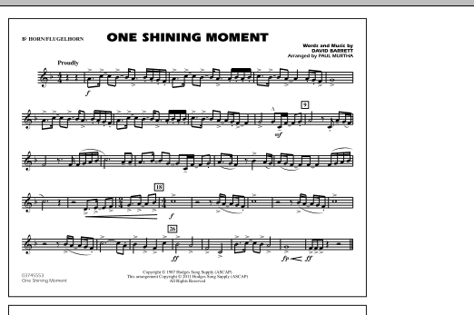 One Shining Moment - Bb Horn/Flugelhorn (Marching Band)