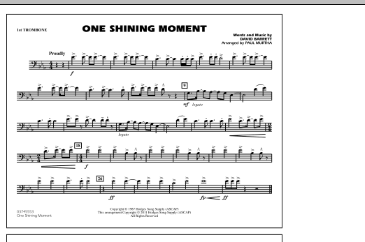 One Shining Moment - 1st Trombone (Marching Band)