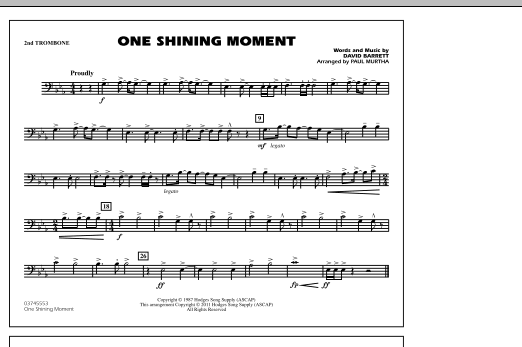 page one of One Shining Moment - 2nd TromboneASALTTEXT