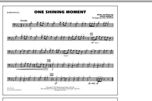 One Shining Moment - Baritone B.C. (Marching Band)
