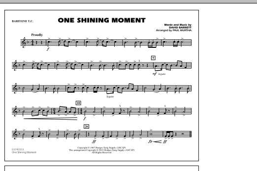 page one of One Shining Moment - Baritone T.C.ASALTTEXT