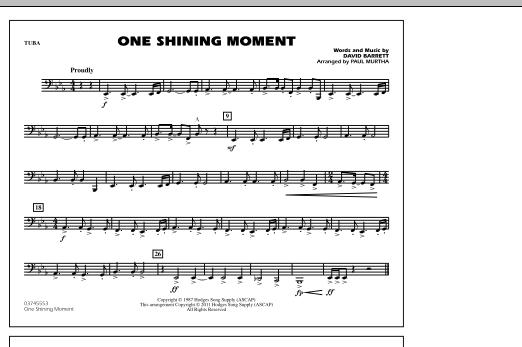 One Shining Moment - Tuba (Marching Band)