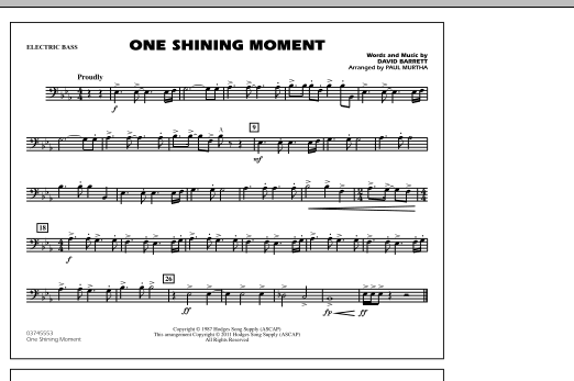page one of One Shining Moment - Electric BassASALTTEXT