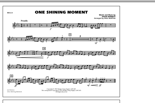 page one of One Shining Moment - BellsASALTTEXT