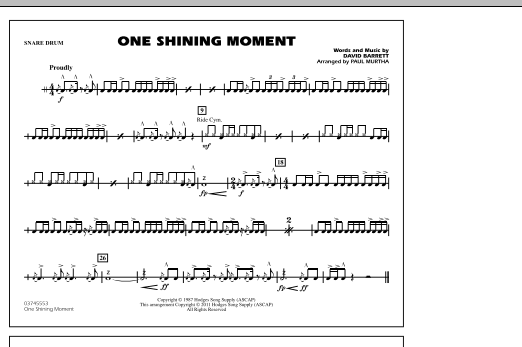 One Shining Moment - Snare Drum (Marching Band)