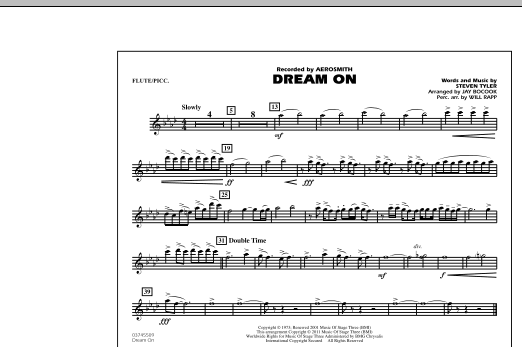 Dream On - Flute/Piccolo (Marching Band)