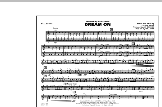 Dream On - Eb Alto Sax (Marching Band)
