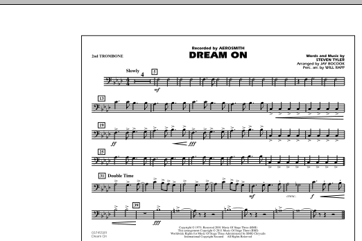 Dream On - 2nd Trombone (Marching Band)