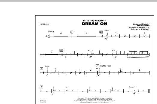 Dream On - Cymbals (Marching Band)