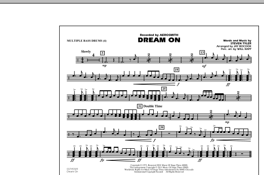 Dream On - Multiple Bass Drums (Marching Band)