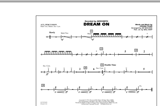 Dream On - Aux Percussion (Marching Band)