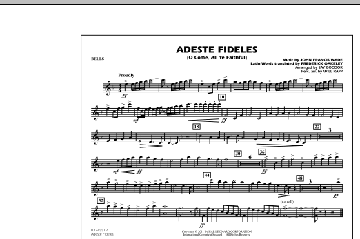Adeste Fideles (O Come, All Ye Faithful) - Bells (Marching Band)