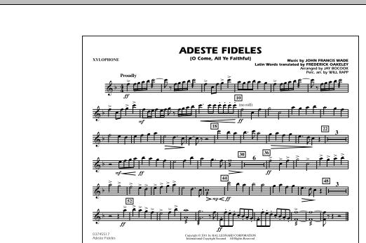 Adeste Fideles (O Come, All Ye Faithful) - Xylophone (Marching Band)