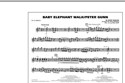 Baby Elephant Walk/Peter Gunn - Bb Clarinet (Marching Band)