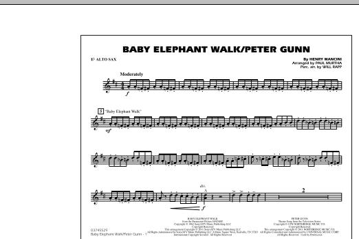 Baby Elephant Walk/Peter Gunn - Eb Alto Sax (Marching Band)