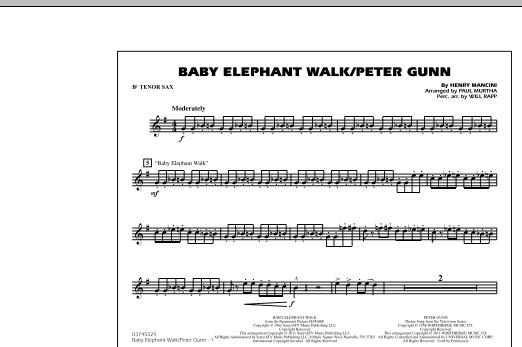 Baby Elephant Walk/Peter Gunn - Bb Tenor Sax (Marching Band)