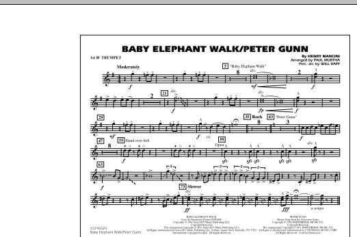 Baby Elephant Walk/Peter Gunn - 1st Bb Trumpet (Marching Band)