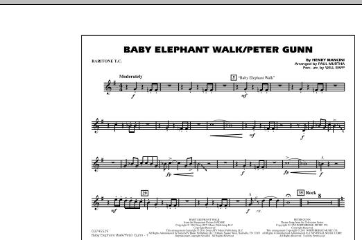 Baby Elephant Walk/Peter Gunn - Baritone T.C. (Marching Band)
