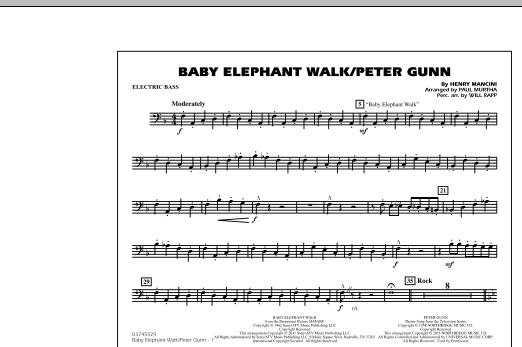 Baby Elephant Walk/Peter Gunn - Electric Bass (Marching Band)