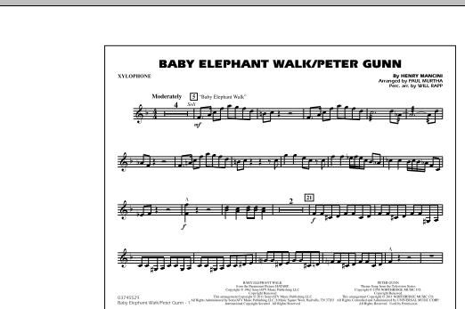 Baby Elephant Walk/Peter Gunn - Xylophone (Marching Band)