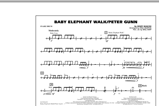 Baby Elephant Walk/Peter Gunn - Snare Drum (Marching Band)