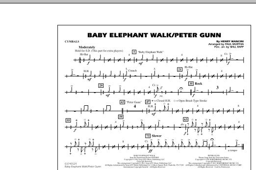 Baby Elephant Walk/Peter Gunn - Cymbals (Marching Band)