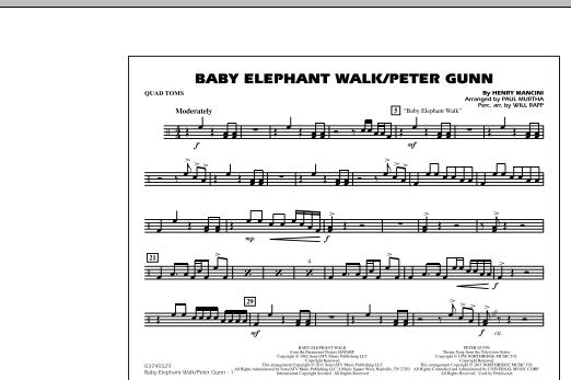 Baby Elephant Walk/Peter Gunn - Quad Toms (Marching Band)