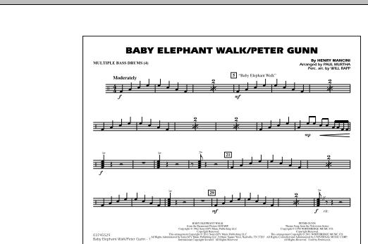 Baby Elephant Walk/Peter Gunn - Multiple Bass Drums (Marching Band)