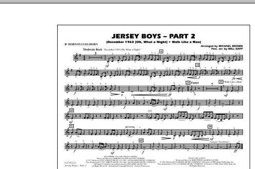 Jersey Boys: Part 2 - Bb Horn/Flugelhorn (Marching Band)