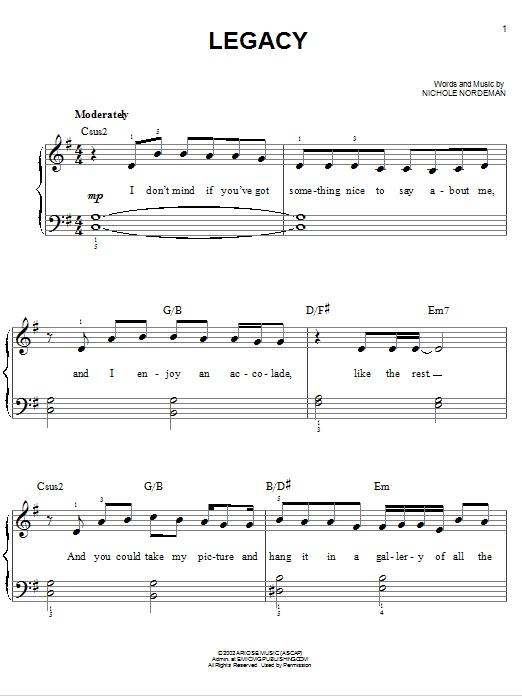Legacy (Easy Piano)