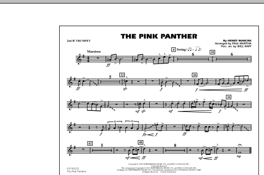 The Pink Panther - 2nd Bb Trumpet (Marching Band)