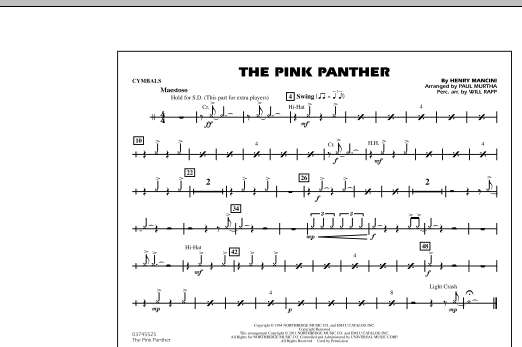 The Pink Panther - Cymbals (Marching Band)