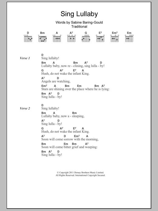 Sing Lullaby Sheet Music