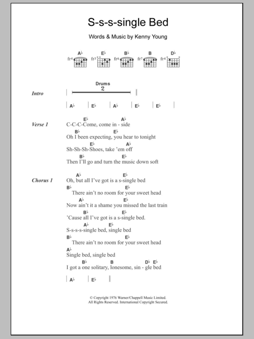 S-s-s-single Bed Sheet Music