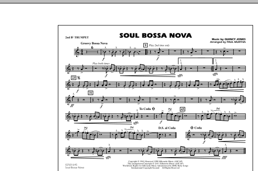 Soul Bossa Nova - 2nd Bb Trumpet (Marching Band)