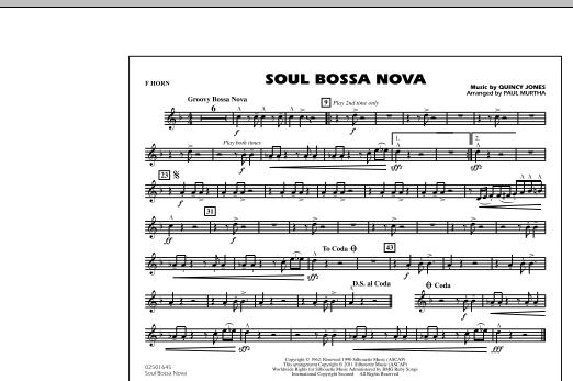 Soul Bossa Nova - F Horn (Marching Band)