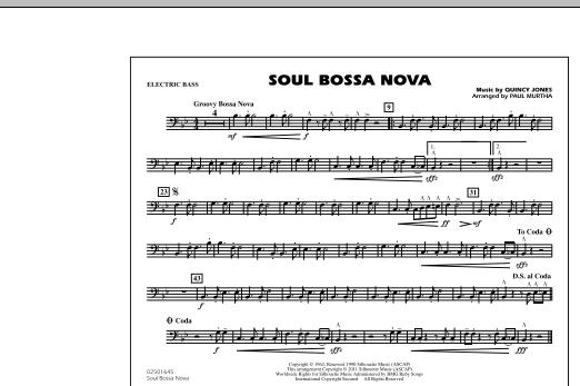 Soul Bossa Nova - Electric Bass (Marching Band)