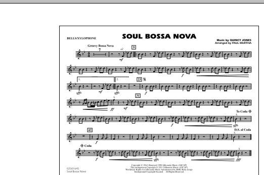 Soul Bossa Nova - Bells/Xylophone (Marching Band)