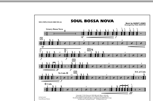 Soul Bossa Nova - Multiple Bass Drums (Marching Band)