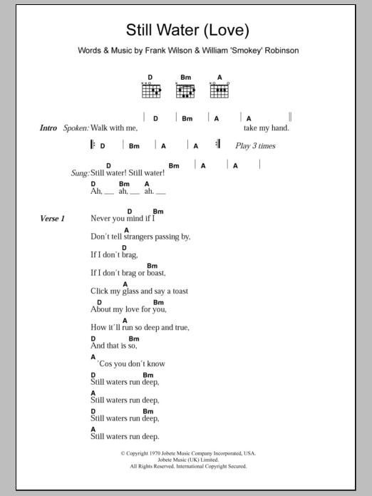 Still Water (Love) Sheet Music