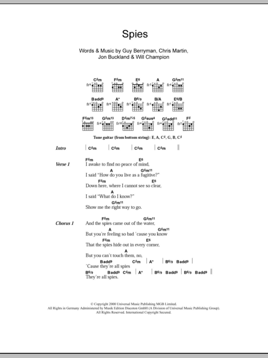 Exelent The Scientist Coldplay Chords Pictures - Basic Guitar Chords ...