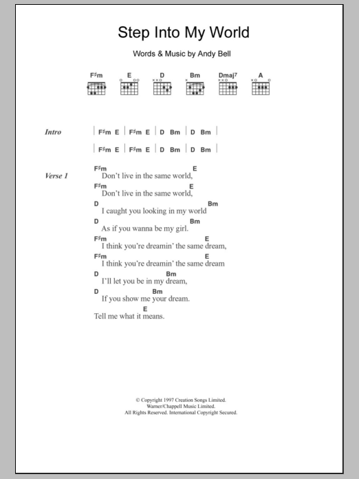 Step Into My World Sheet Music