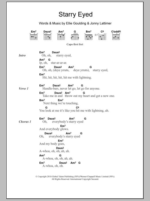 Starry Eyed Sheet Music