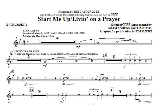 Start Me Up/Livin' On A Prayer - Bb Trumpet 2 (Choir Instrumental Pak)