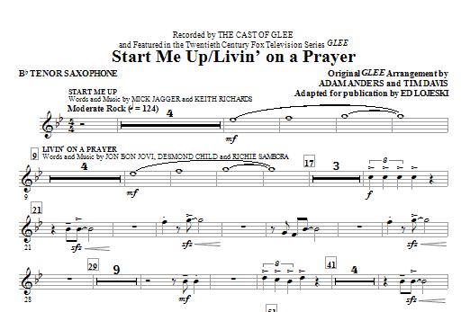 Start Me Up/Livin' On A Prayer - Bb Tenor Saxophone (Choir Instrumental Pak)