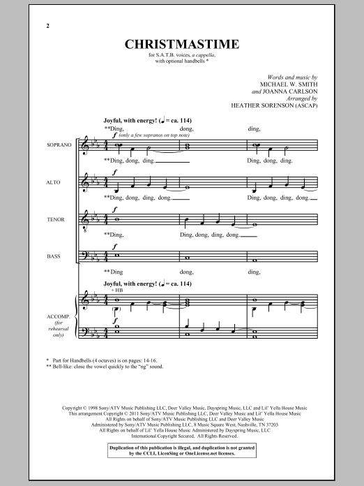 Christmastime (SATB Choir)