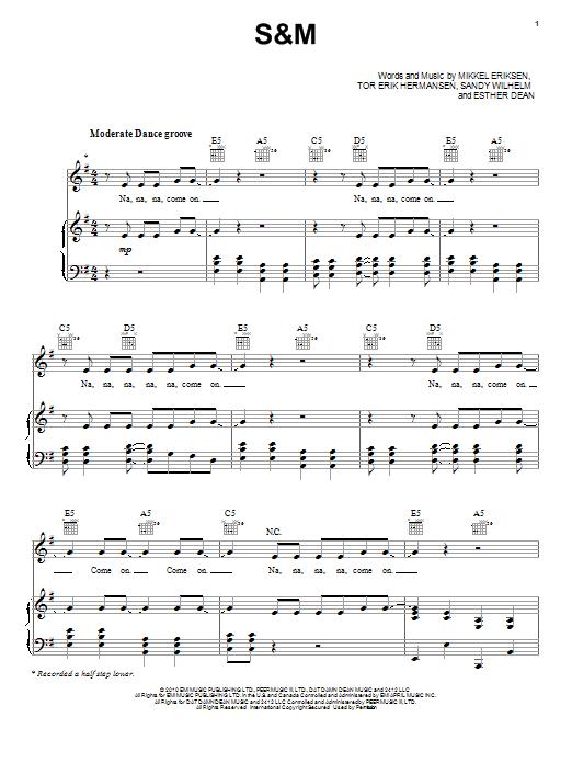 S&M Sheet Music